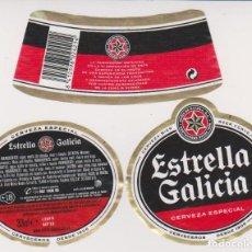 Coleccionismo de cervezas: ETIQUETA CERVEZA ESTRELLA GALICIA 33CL BEER LABELS BIER BIRRA. Lote 278541368