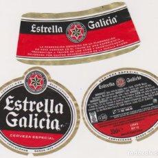 Coleccionismo de cervezas: ETIQUETA CERVEZA ESTRELLA GALICIA 33CL BEER LABELS BIER BIRRA. Lote 278541388