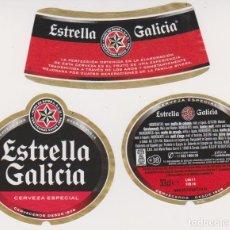 Coleccionismo de cervezas: ETIQUETA CERVEZA ESTRELLA GALICIA 33CL BEER LABELS BIER BIRRA. Lote 278541873