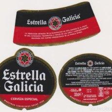 Coleccionismo de cervezas: ETIQUETA CERVEZA ESTRELLA GALICIA 33CL BEER LABELS BIER BIRRA. Lote 278541903