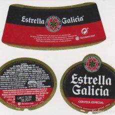 Coleccionismo de cervezas: ETIQUETA CERVEZA ESTRELLA GALICIA XACOBEO 2021 25CL BEER LABELS BIER BIRRA. Lote 278570648