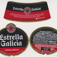 Coleccionismo de cervezas: ETIQUETA CERVEZA ESTRELLA GALICIA XACOBEO 2021 33CL BEER LABELS BIER BIRRA. Lote 278570753