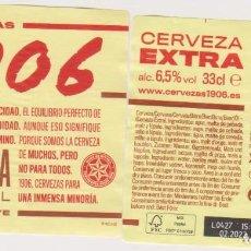 Coleccionismo de cervezas: ETIQUETA CERVEZA ESTRELLA GALICIA EXTRA 1906 X21 33CL BEER LABELS BIER BIRRA. Lote 278572658