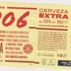 Coleccionismo de cervezas: ETIQUETA CERVEZA ESTRELLA GALICIA EXTRA 1906 X21 33CL BEER LABELS BIER BIRRA MODELO 2. Lote 278572788