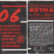 Coleccionismo de cervezas: ETIQUETA CERVEZA ESTRELLA GALICIA EXTRA NEGRA BLACK COUPAGE 1906 X21 33CL BEER LABELS BIER BIRRA. Lote 278573248