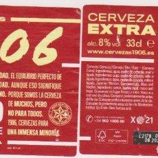 Coleccionismo de cervezas: ETIQUETA CERVEZA ESTRELLA GALICIA EXTRA RED VINTAGE 1906 X21 33CL BEER LABELS BIER BIRRA. Lote 278573388