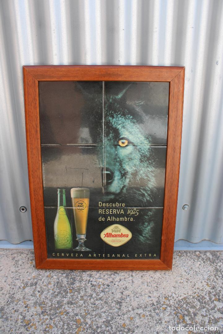 Coleccionismo de cervezas: Cuadro cartel cerveza ALHAMBRA RESERVA 1925 de ceramica de azulejos. - Foto 5 - 278672868