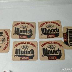 Coleccionismo de cervezas: CERVEZA SKOL EXTRA MUNICH 6 POSAVASOS ORIGINALES. Lote 278797148