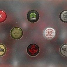 Coleccionismo de cervezas: CHAPA TAPÓN CORONA SURTIDO 10 UNDS. LOTE 10. Lote 279522268