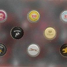 Coleccionismo de cervezas: CHAPA TAPÓN CORONA SURTIDO 10 UNDS. LOTE 12. Lote 279522983