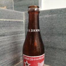 Coleccionismo de cervezas: CAJA BOTELLA DE CERVEZA ESTRELLA DAMM BARCELONA 20 CL QUINTO. Lote 279523218
