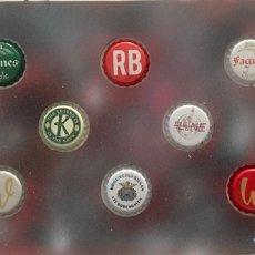 Coleccionismo de cervezas: CHAPA TAPÓN CORONA SURTIDO 10 UNDS. LOTE 18. Lote 279524833