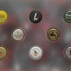 Coleccionismo de cervezas: CHAPA TAPÓN CORONA SURTIDO 10 UNDS. LOTE 21. Lote 279525578