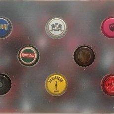 Coleccionismo de cervezas: CHAPA TAPÓN CORONA SURTIDO 10 UNDS. LOTE 24. Lote 279526373