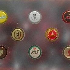 Coleccionismo de cervezas: CHAPA TAPÓN CORONA SURTIDO 10 UNDS. LOTE 30. Lote 279528053