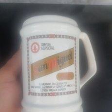 Coleccionismo de cervezas: JARRA CERAMICA CERVEZA SAN MIGUEL. Lote 280475093
