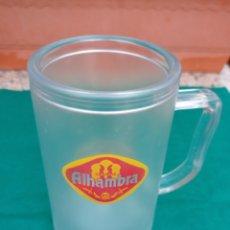 Coleccionismo de cervezas: JARRA CERVEZA ALHAMBRA REFRIGERANTE PLÁSTICO. Lote 282270188