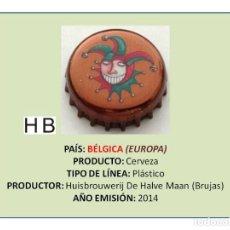 Coleccionismo de cervezas: TAPON CORONA CHAPA BOTTLE CAP KRONKORKEN TAPPI CAPSULA - CERVEZA DE HALVE MAAN (BÉLGICA). Lote 295415488