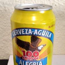Colecionismo de cervejas: BOTE - LATA CERVEZA AGUILA - 100 AÑOS DE ALEGRIA. Lote 284764383