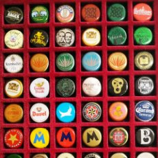 Coleccionismo de cervezas: LOTE 143 CHAPAS CORONAS DE CERVEZA Y REFRESCOS NO REPETIDAS. Lote 285415008
