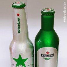 Coleccionismo de cervezas: LOTE 2 BOTELLAS CERVEZA HEINEKEN DIFERENTES - NUVAS SIN ABRIR -. Lote 287094983
