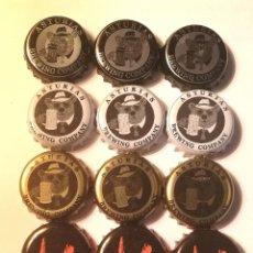 Coleccionismo de cervezas: LOTE CHAPAS CERVEZAS ASTURIANAS. Lote 287464298