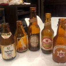 Coleccionismo de cervezas: GRUPO DE BOTELLAS DE CERVEZA DISTINTAS MARCAS (SERIGRAFÍA Y ETIQUETA). Lote 287593678