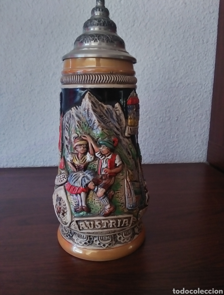Coleccionismo de cervezas: Jarra de Cerveza Austria Hecha a Mano - Foto 3 - 287684898