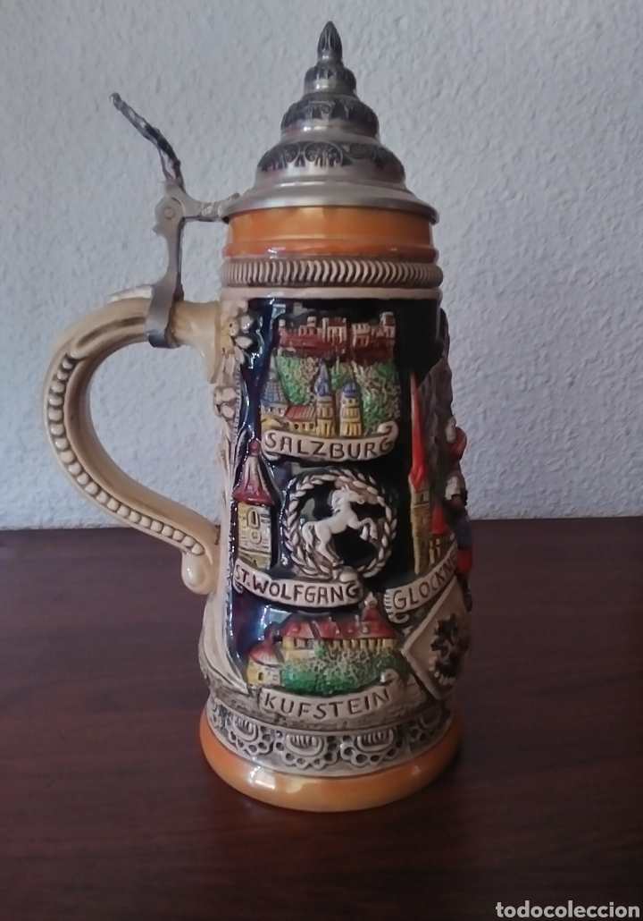 Coleccionismo de cervezas: Jarra de Cerveza Austria Hecha a Mano - Foto 4 - 287684898