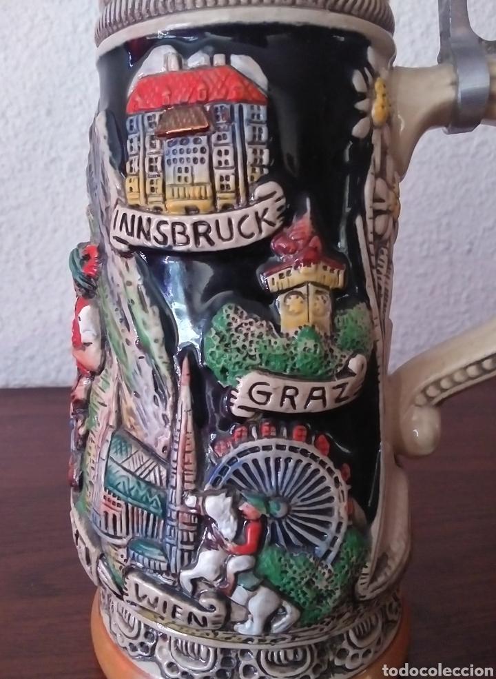 Coleccionismo de cervezas: Jarra de Cerveza Austria Hecha a Mano - Foto 7 - 287684898