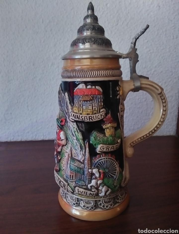JARRA DE CERVEZA AUSTRIA HECHA A MANO (Coleccionismo - Botellas y Bebidas - Cerveza )