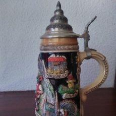 Coleccionismo de cervezas: JARRA DE CERVEZA AUSTRIA HECHA A MANO. Lote 287684898