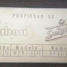 Coleccionismo de cervezas: PLACA ACERO INOX. SERPENTIN DE GRIFO MAHOU SAN MIGUEL. Lote 287736248