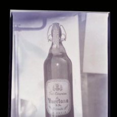 Coleccionismo de cervezas: CERVEZA LA HUERTANA Y ESTRELLA DE AFRICA - 7 ANTIGUOS CLICHES NEGATIVOS EN CELULOIDE, AÑOS 1960. Lote 287902973