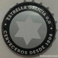 Coleccionismo de cervezas: CHAPA DE CERVEZA ESTRELLA GALICIA 0,0 NEGRA. Lote 288736953