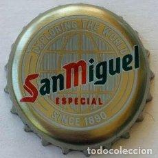 Collectionnisme de bières: CHAPA CERVEZA SAN MIGUEL ESPECIAL EXPLORING THE WORLD SINCE 1890 REINO UNIDO. Lote 289006413