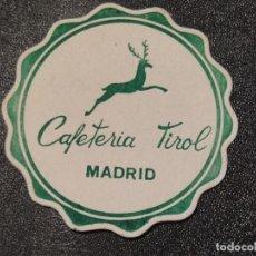 Coleccionismo de cervezas: ANTIGUO POSAVASOS, CAFETERIA TIROL. MADRID. Lote 289361793
