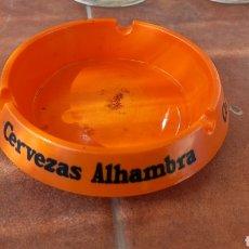 Coleccionismo de cervezas: CENICERO CERVEZAS ALHAMBRA AÑOS 70 UNA RAREZA. Lote 293894538