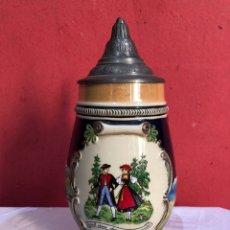 Coleccionismo de cervezas: ANTIGUA Y PRECIOSA JARRA CERVESA ALEMANA . VER FOTOS. Lote 294020903