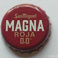 Collezionismo di birre: CHAPA TAPÓN CORONA DE LA CERVEZA ESPAÑOLA SAN MIGUEL MAGNA ROJA 0,0%. VER DESCRIPCIÓN.. Lote 295914803