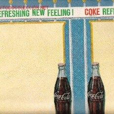 Coleccionismo de Coca-Cola y Pepsi: POSTER COCA-COLA. USA. ORIGINAL AÑOS 50. COKE. Lote 21580440