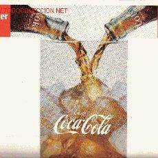 Coleccionismo de Coca-Cola y Pepsi: POSTER COCA-COLA. USA ORIGINAL AÑOS 50. COKE. Lote 21422222