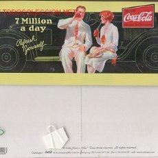 Coleccionismo de Coca-Cola y Pepsi: PLACA DE METAL COCA-COLA (7 MILLION A DAY). Lote 21095681