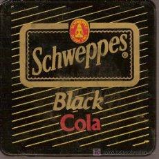 Coleccionismo de Coca-Cola y Pepsi: POSAVASOS DE PLÁSTICO DURO DE SCHWEPPESS BLACK COLA.. Lote 6115991