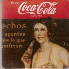 Coleccionismo de Coca-Cola y Pepsi: GRUESO POSAVASOS DE COCA-COLA. DE CARTÓN Y CORCHO.. Lote 10427444