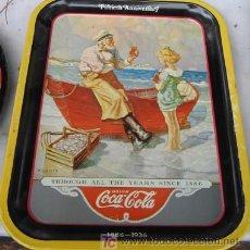 Coleccionismo de Coca-Cola y Pepsi: BANDEJA DE LATA DE COCA COLA. Lote 23386125
