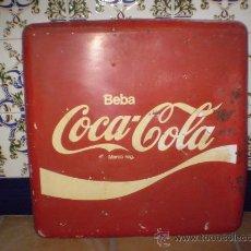 Coleccionismo de Coca-Cola y Pepsi: CHAPA PUBLICITARIA DE COCA COLA. BORDES REDONDEADOS.. Lote 27007641