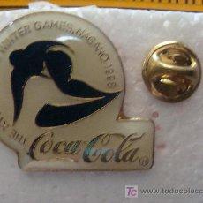 Coleccionismo de Coca-Cola y Pepsi: PIN DE COCA COLA. JUEGOS OLÍMPICOS. NAGANO 1998. SNOWBOARD. PERFECTO. . Lote 8652128