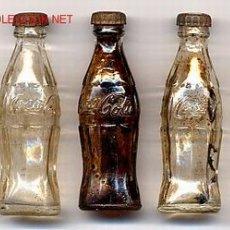 Coleccionismo de Coca-Cola y Pepsi: 5 BOTELLITAS DE COCA COLA AÑOS 50 , USA , ORIGINALES , RB. Lote 23242548