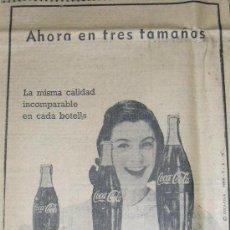 Coleccionismo de Coca-Cola y Pepsi: PUBLICIDAD DE COCA COLA. AÑOS 50.. Lote 26074220
